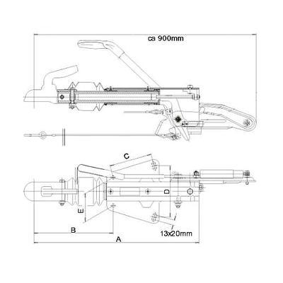 Työntöjarru Knott KF20   (2000 kg V-aisa)