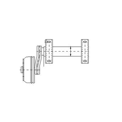 Puoliakseli 1500 kg A300/585 (Nieper GH 1500 5x112 o+v)