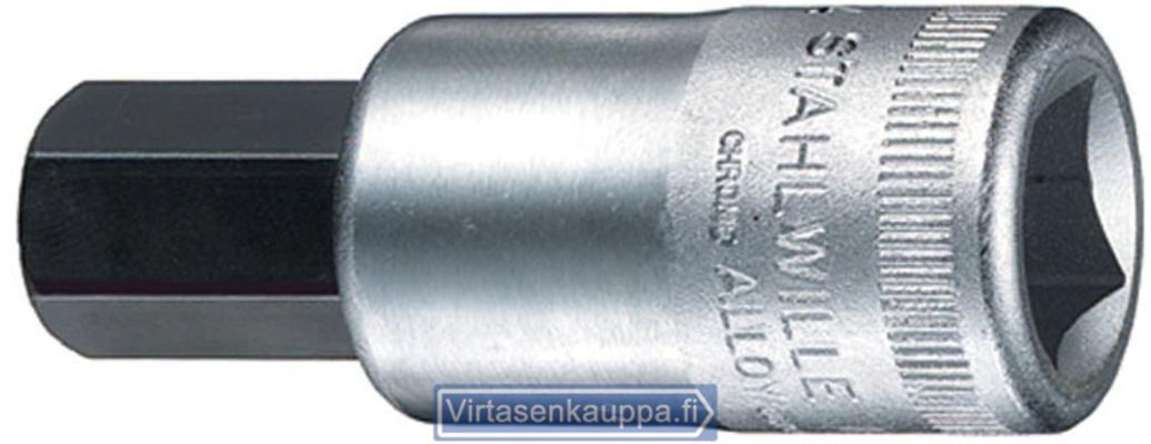 """Kuusiokolohylsyavain 1/2"""", Stahlwille - Kuusiokolohylsyavain 4 mm"""