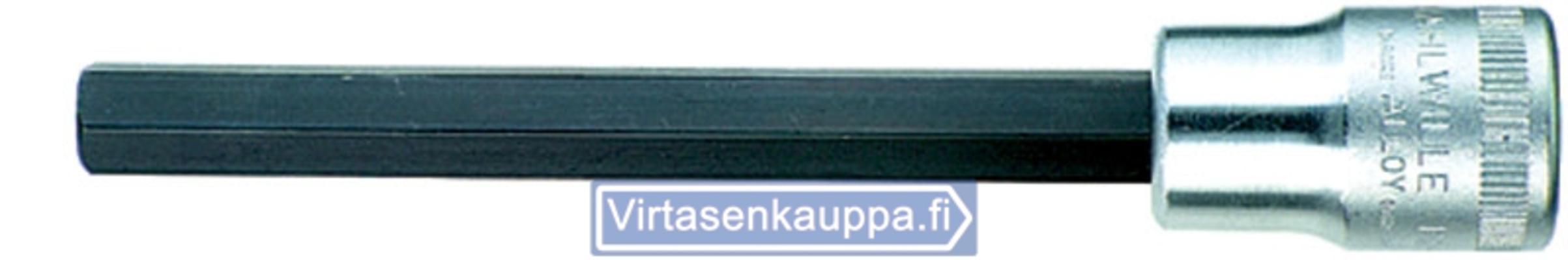 """Kuusiokolohylsyavain 1/2"""", Stahlwille - Inhex-hylsyavain 5 mm, pituus 120 mm"""