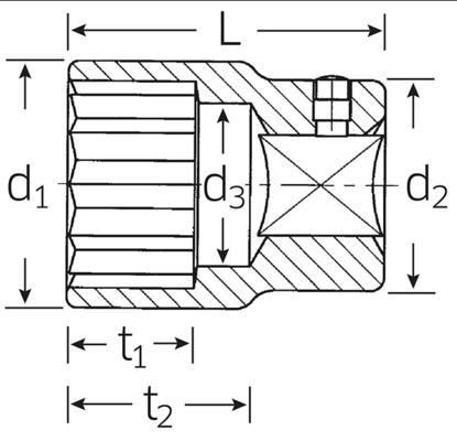 "Hylsyavain 1"", Stahlwille 60 - Avainväli 30 mm, pituus 65 mm"