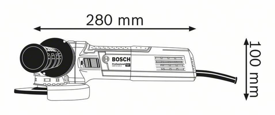 Kulmahiomakone GWX 9-125, Bosch