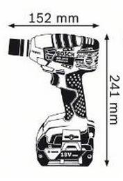 Akkumutterinväännin GDS 18 V-LI Solo, Bosch - Akkumutterinväännin GDS 18 V-LI Solo