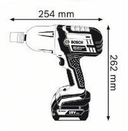 Akkumutterinväännin GDS 18V-LI HT Professional, Bosch - Akkumutterinväännin GDS 18V-LI HT Professional