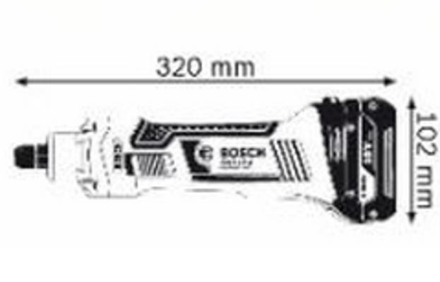 Akkusuorahiomakone GGS 18 V-LI Solo, Bosch - Akkusuorahiomakone GGS 18 V-LI Solo