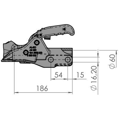 Kuulakytkin 3500 kg ø60 AL-KO (AK351 + softdock 16/16 1223716)