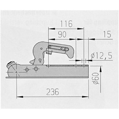 Kuulakytkin 750 kg ø60 AL-KO (AK7-B 203252 90/116 3-reik.)