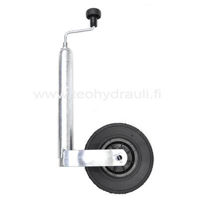 Nokkapyörä 150 kg muovivanne (WW 225x70 ø48 umpikumipyörä)