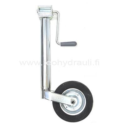 Nokkapyörä 150 kg sivuveivillä (Simol LC242 ø48 umpikumipyörä)