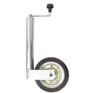 Nokkapyörä 400 kg peltivanne (WW 255x85 ø60 umpikumipyörä)