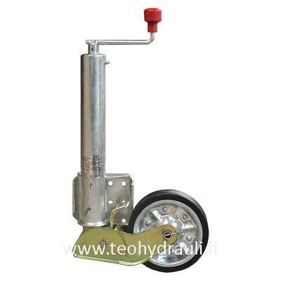 Nokkapyörä 500 kg taittuva  (AL-KO 200x50 ø60 umpikumipyörä)