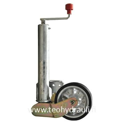 Nokkapyörä 500 kg taittuva  (AL-KO 200x50 ø60 umpikumipyörä )