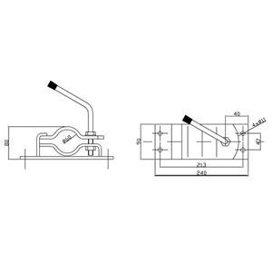 Kiinnike 60 mm hitsattava (Simol MR 1060)
