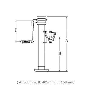 Tukijalka LT3153 1300 kg (Simol 57x560 mm säätö 370 mm)