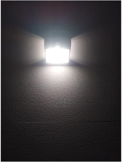 Aurinkokenno led-valaisin liiketunnistimella, (musta)