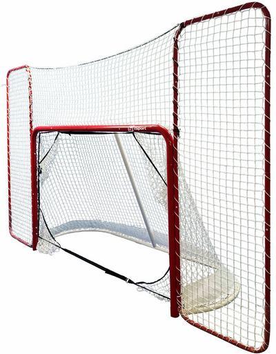 Jääkiekkomaali taustaverkolla ja tarkkuuspusseilla, iSport