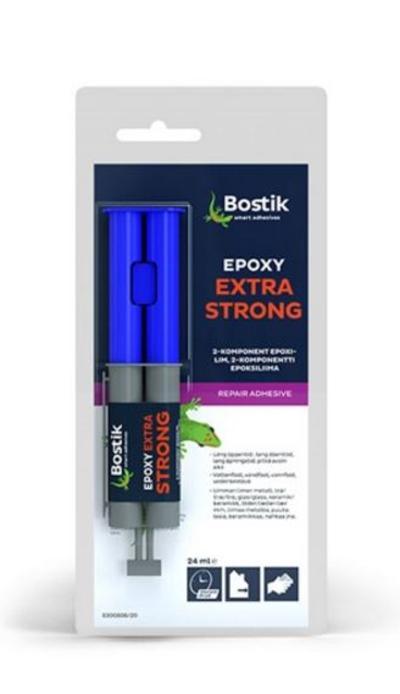 Epoksiliima Extra Strong 24 ml, Bostik - Epoksiliima Extra Strong 24 ml