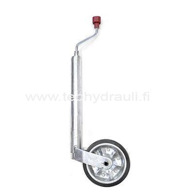 Nokkapyörä 300 kg peltivanne (AL-KO 200x50 ø48 umpikumipyörä)