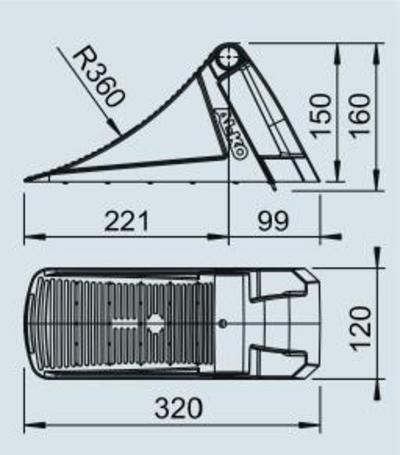 Pyöräkiila tyyppi 36 (muovi), AL-KO - Pyöräkiila tyyppi 36, muovi