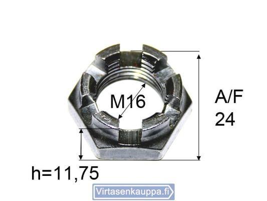Kruunumutteri M16x1,5, Valeryd - Kruunumutteri M16x1,5