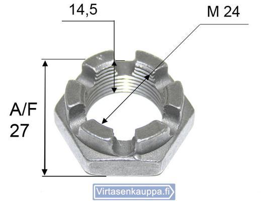 Kruunumutteri M24x1,5 - Valeryd - Kruunumutteri M24x1,5
