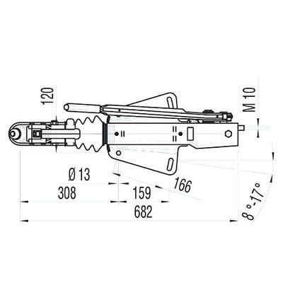 Työntöjarru 161S (1600 kg), AL-KO - Työntöjarru 161S (1600 kg)