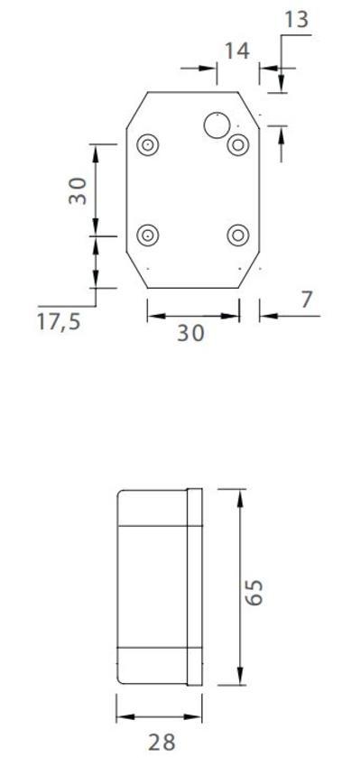 Etuäärivalo 0,5 m johdolla ja muovikiinnikkeellä, Flexipoint  - Aspöck - Etuäärivalo 0,5 m johdolla ja muovikiinnikkeellä, Flexipoint