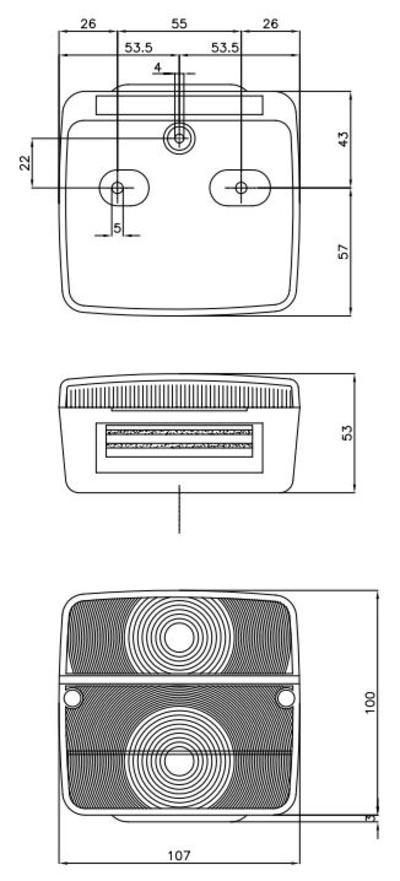 Magneettikiinnitteinen äärivalo-takavaloyhdistelmä, Aj.ba - Magneettikiinnitteinen äärivalo-takavaloyhdistelmä