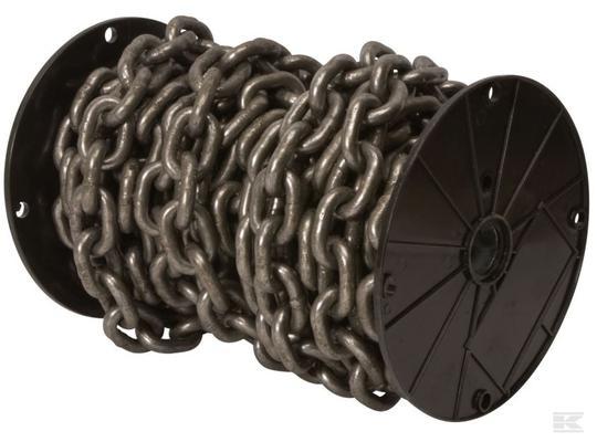 Lyhytlenkkinen ketju, karkaistu (DIN 766) - Lyhytlenkkinen karkaistu ketju 3 x 16 x 5 mm, 30 m/rulla