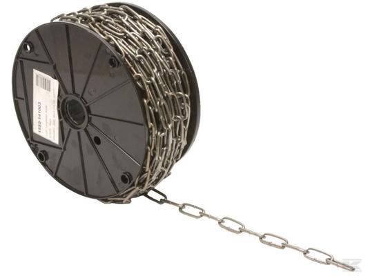 Pitkälenkkinen ketju, käsittelemätön (DIN 5685) - Pitkälenkkinen ketju 7 x 49 x 14 mm, 20 m/rulla