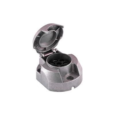 Pistorasia 7-nap. + sumuvalokytkin (alumiini 403027)