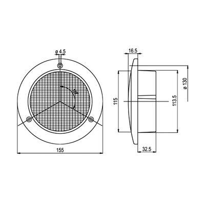 Jokon led sumuvalo 12V 155 mm (13.3024.000 SNR 735/12)