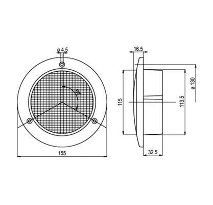 Led-peruutusvalo,  Ø 155 mm, Jokon - Led-peruutusvalo, 12 V