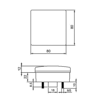 Jokon led suuntavalo 12V 80 mm (13.1039.000 BL 280/12)