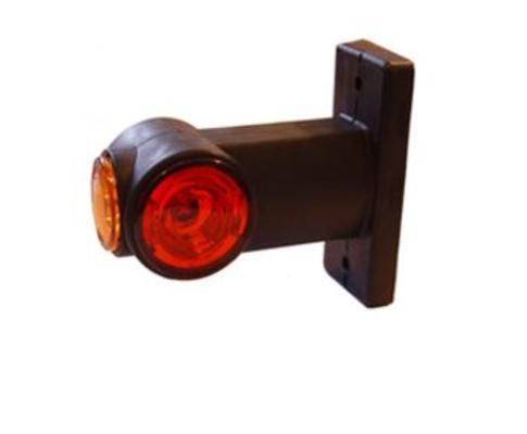 Led-äärivalo 9-32 V, puna-valkoinen, kumivarrella, Jokon - Led-äärivalo 9-32 V, puna-valkoinen, kumivarrella