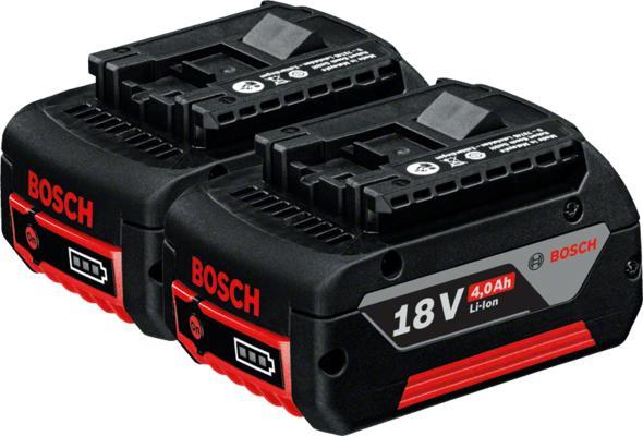 Akku 2 x GBA 18V 4,0 Ah, Bosch - Akku 2 x GBA 18V 4,0 Ah, Bosch