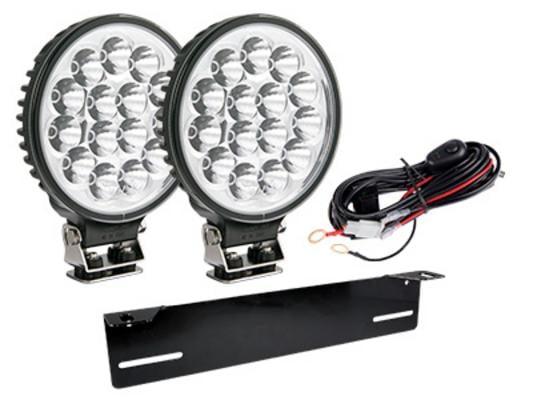 Led-lisävalosarja Lightning 175 x 2 - Pyöreä |18 cm | 4050 lm | Ref. 37,5, W-Light - Lisävalopaketti Lightning 175 x2, W-Light