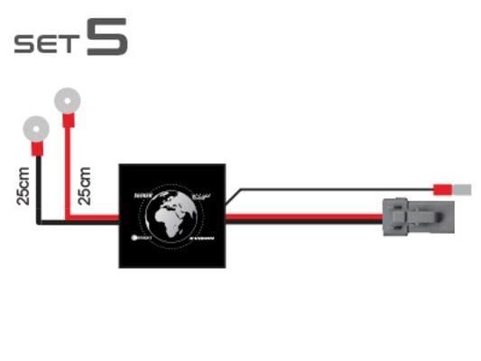 Kytkentäsarja yhdelle lisävalolle (set 5)
