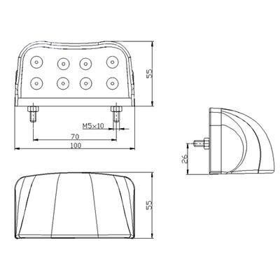 Led rekisterikilvenvalo 12-30V (FT-026 led)