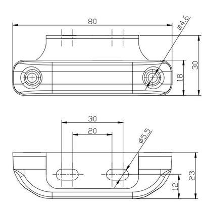 Led-takaäärivalo kulmakiinnikkeellä, 12-36 V - Led-takaäärivalo kulmakiinnikkeellä, 12-36 V