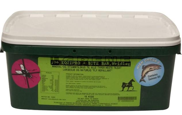 Mineraalinuolukivi 15 kg, Equipro+ Bite Ban - Mineraalinuolukivi 15 kg, sisältää valkosipulia