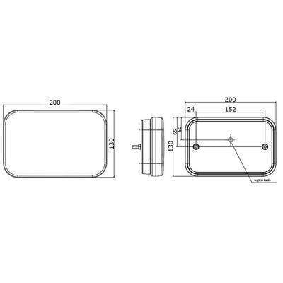 Led-takavalo 12-15V (vasen)