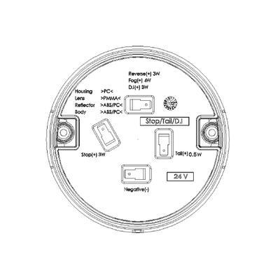 Led peruutusvalo 9-33V (OBO-LRE20W-1400)