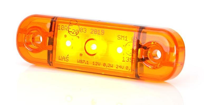 Led-sivuäärivalo 12-24 V, (slim), Was - Led-sivuäärivalo 12-24 V, (slim)