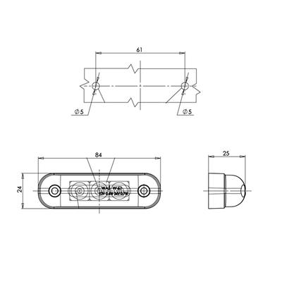 Led-etuäärivalo 12-24 V (kirkas), Was - Led-etuäärivalo 12-24 V (kirkas)