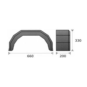 Lokasuoja 200x660 muovi (DE Haan HMK-2066 100/ltk)