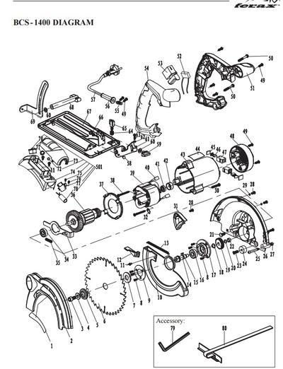 Käsisirkkeli Ferax BCS-1400