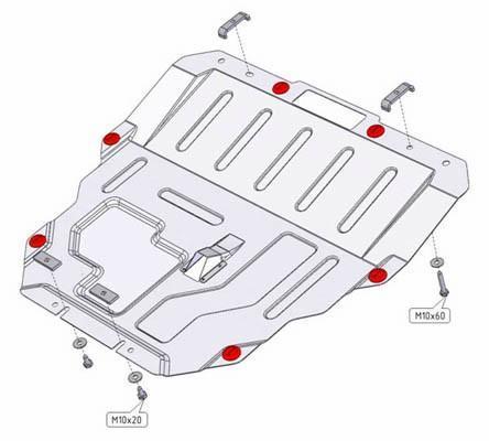 Pohjapanssari Mazda 6 (2007-2013)
