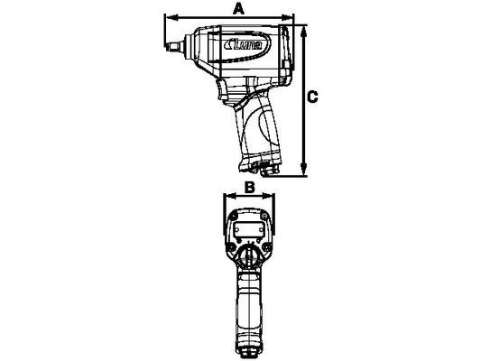 """Mutterinväännin Luna AIW 3/8""""PC  □ -kiinnitys"""