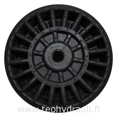 Täyskumipyörä 200x75 (keskiö: 20,5x72 mm)